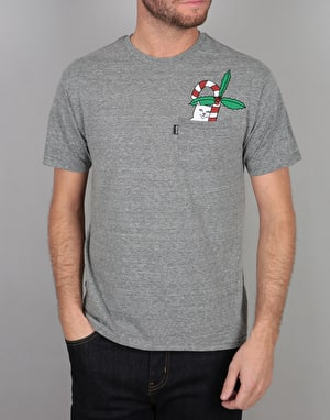 RIPNDIP Lord Nermal Candy Cane Pocket T-Shirt - Heather Grey