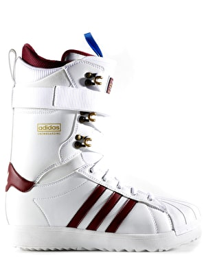 Adidas Superstar ADV Snowboard Boots - White/Collegiate Burgundy/Gold