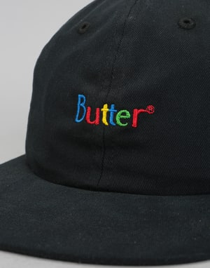 Butter Goods Web Classic 6 Panel Cap - Black