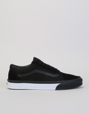 Vans Old Skool Skate Shoes - (Mono Bumper) Black/True White