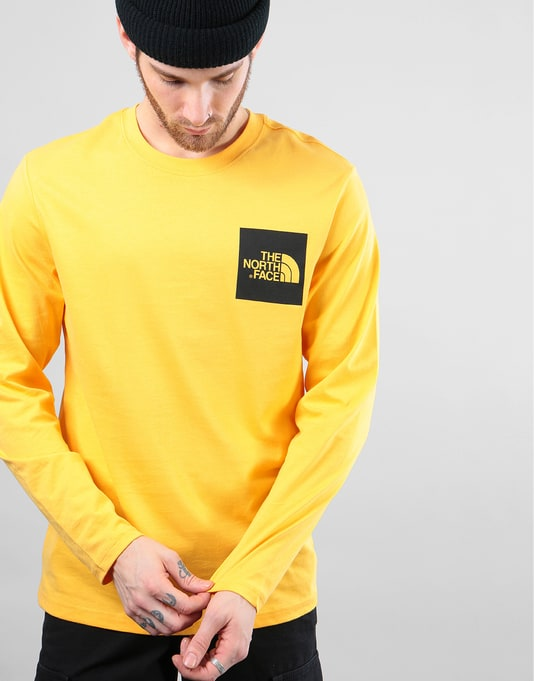 The North Face L/S Fine T-Shirt - TNF Yellow