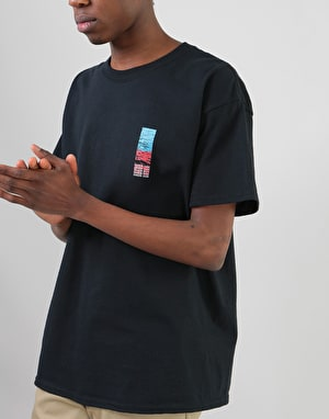 Route One Waves T-Shirt - Black