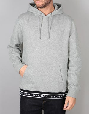 Stüssy Jacquard Rib Pullover Hood - Grey Heather