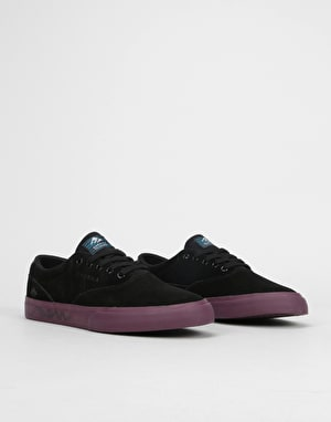 Emerica x Toy Machine Provost Slim Vulc Skate Shoes - Black/Purple