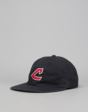 New Era Low Profile 9Fifty MLB Cleveland Indians Strapback Cap - Navy