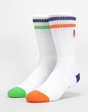 Element Yawye H-R Socks 2 Pack - Multi Orange