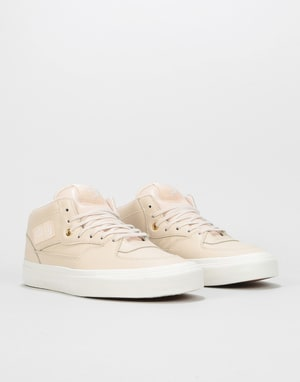 Vans Half Cab DX Skate Shoes - (Leather) Whisper Pink/Gold