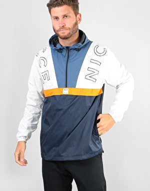 Nicce Conti Cagoule Jacket - Deep Navy/White/Majorca Blue/Yellow