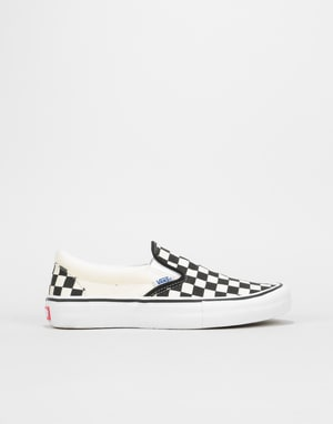 Vans Slip-On Pro Womens Trainers - (Checkerboard) Black/White