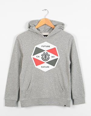 Element Bisect Boys Pullover Hoodie - Grey Heather