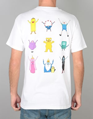 Grizzly x Adventure Time Like Your Brain & Stuff T-Shirt - White