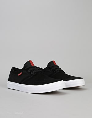 State Bishop Skate Shoes - Black/White Suede