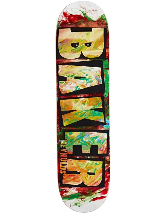 Baker Reynolds Brand Name Fingerpaint Skateboard Deck - 8""