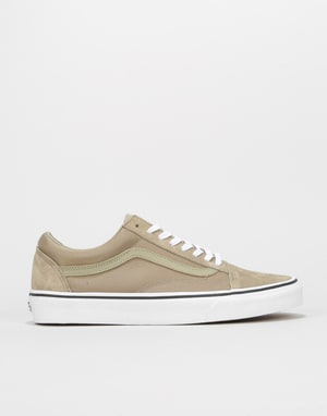 Vans Old Skool Skate Shoes - (Boom Boom) Silver Sage/True White