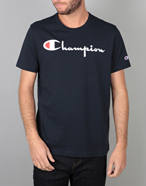 Champion Crewneck S/S T-Shirt - NVY