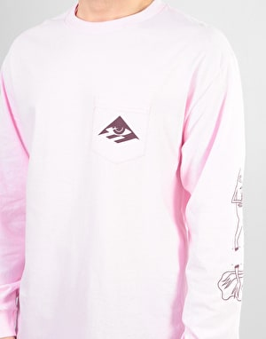 Emerica x Toy Machine Toy L/S Pocket T-Shirt - Pink