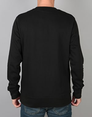 WeSC Inlay Icon Chest Crewneck - Black