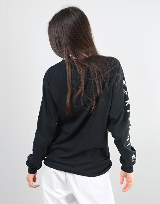 RIPNDIP Womens Lord Nermal Oversized L/S T-Shirt - Black