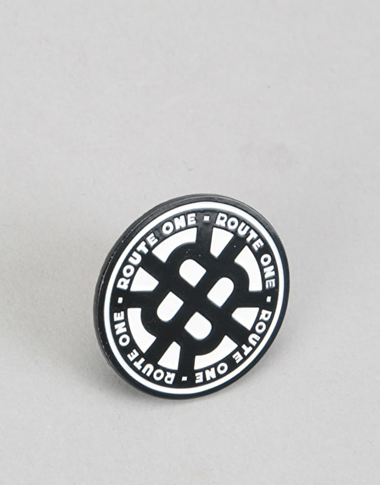 Route One Stamp Logo Pin