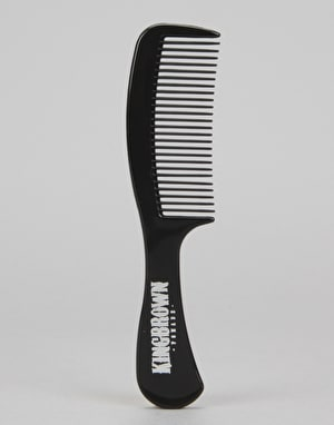 King Brown Black Handle Comb