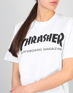 Thrasher Womens Skate Mag Oversized T-Shirt - White
