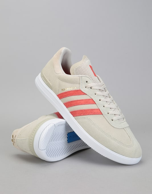 Adidas Samba ADV Skate Shoes - Clear Brown/Trace Scarlet/White