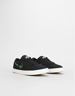 Nike SB Check Canvas Boys Skate Shoes  - Black/Medium Olive/Pro Green