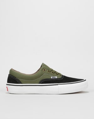 Vans Era Pro Skate Shoes - Black/Moss