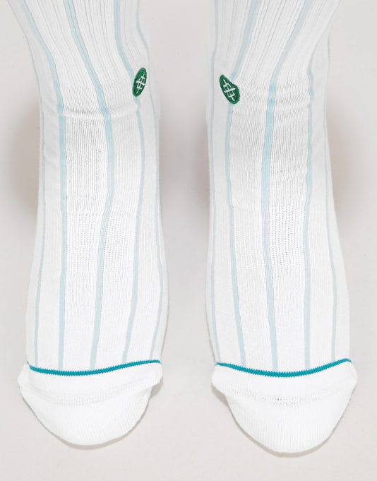 Stance Topspin Classic Crew Socks - White
