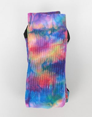 Route One Tie Dye Crew Socks - Multi