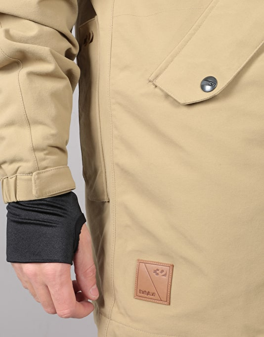 ThirtyTwo Deep Creek 2018 Snowboard Jacket - Sand