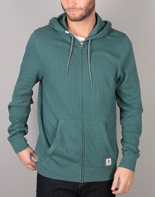Element Cornell Overdye Zip Hoodie - Mallard Green Heather