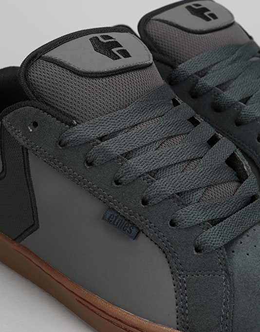 Etnies Fader Skate Shoes - Dark Grey/Black/Gold
