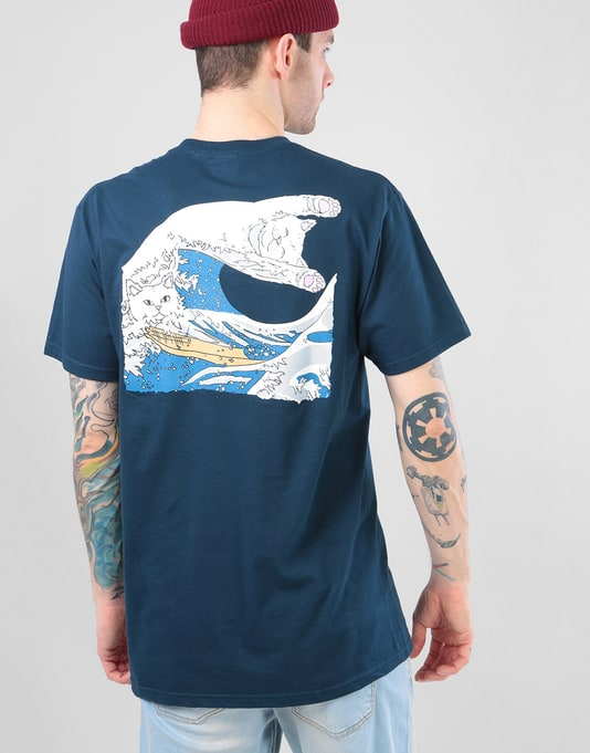 RIPNDIP Great Wave T-Shirt - Navy Blue