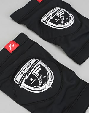 Footprint Shield Logo Low Profile Knee Pads - Black