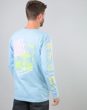 Obey The Next Wave L/S T-Shirt - Powder Blue