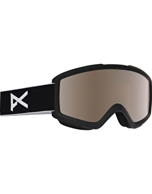 Anon Helix 2.0 2018 Snowboard Goggles - Black/Silver Amber