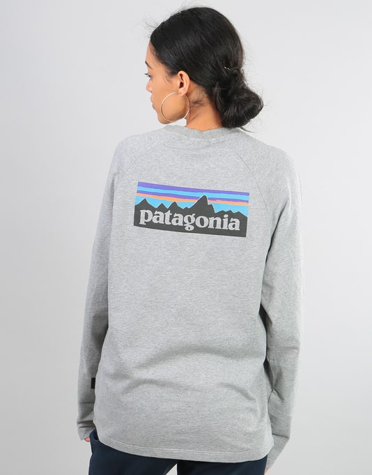 Patagonia Womens P-6 Logo Oversized Sweatshirt - Feather Grey