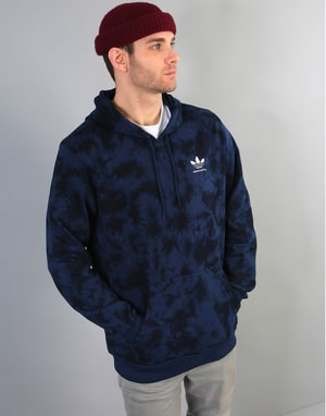 Adidas Clima 2.0 Crystal Wash Pullover Hoodie - Night Indigo/Black