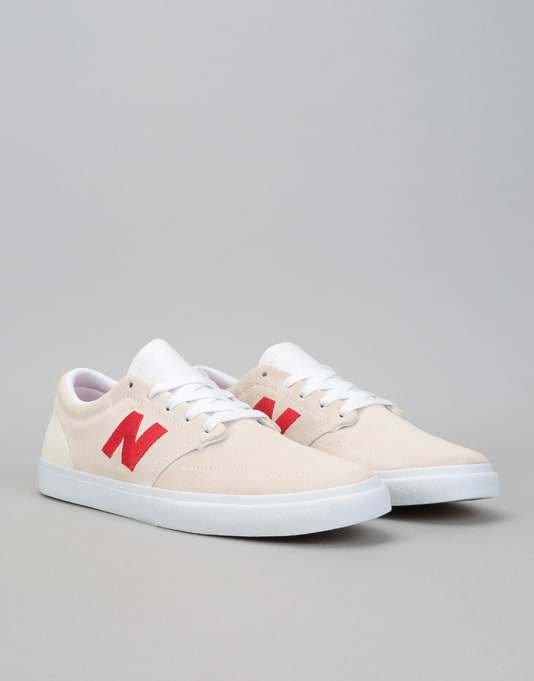 New Balance Numeric 345 Skate Shoes - White/Red