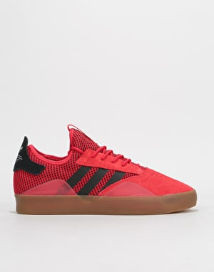 Adidas 3ST.001 Skate Shoes - Scarlet/Core Black/Gum