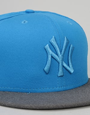 New Era 9Fifty New York Yankees Pop Snapback Cap - Heather/Blue