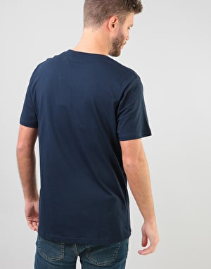 Nicce Split Logo T-Shirt - Navy