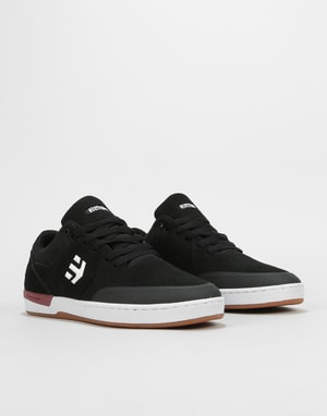 Etnies Marana XT Skate Shoes - Black/White/Burgundy