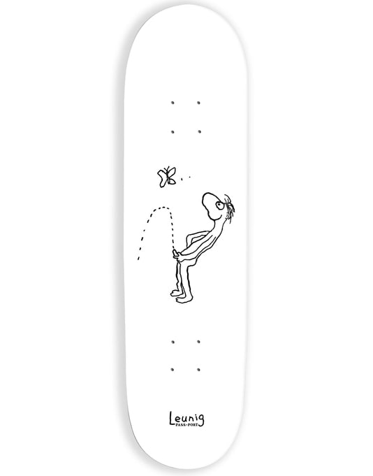Pass Port Leunig Series - Butterfly Piss Skateboard Deck - 8""