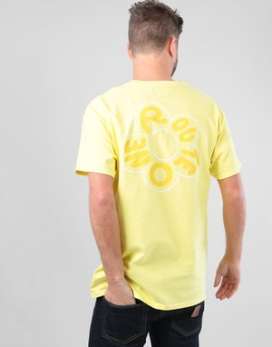 Route One In Bloom T-Shirt - Cornsilk