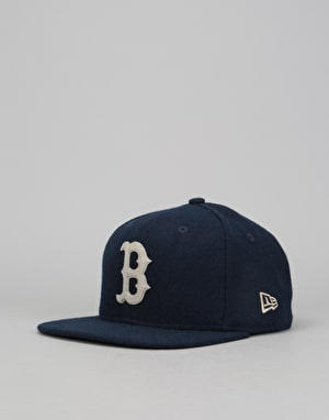 New Era 9Fifty MLB Boston Red Sox Melton Snapback Cap - Navy