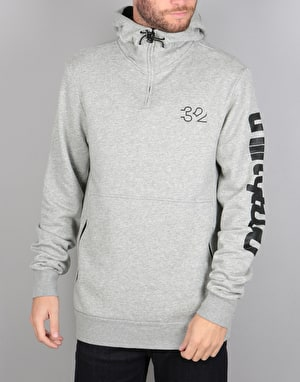 ThirtyTwo Stamped Pullover Hoodie - Grey Heather