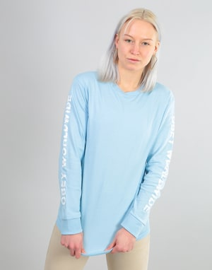 Obey Womens Worldwide L/S T-Shirt - Powder Blue