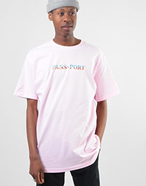 Pass Port Chrome T-Shirt - Pink